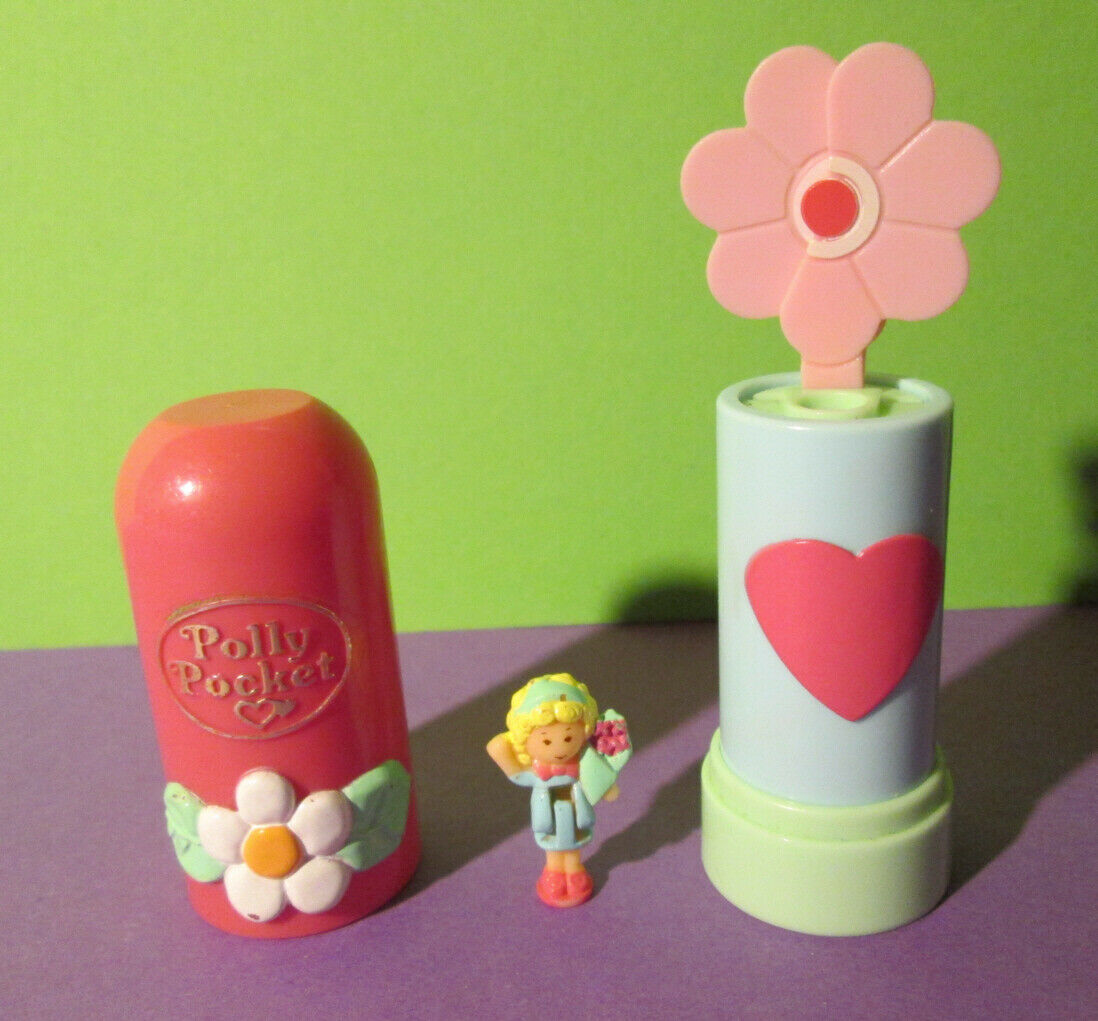 Polly Pocket Mini ♥ POP UPS Fniedriger ♥ Lippenstift ♥ 100% Komplett ♥ 1992 ♥