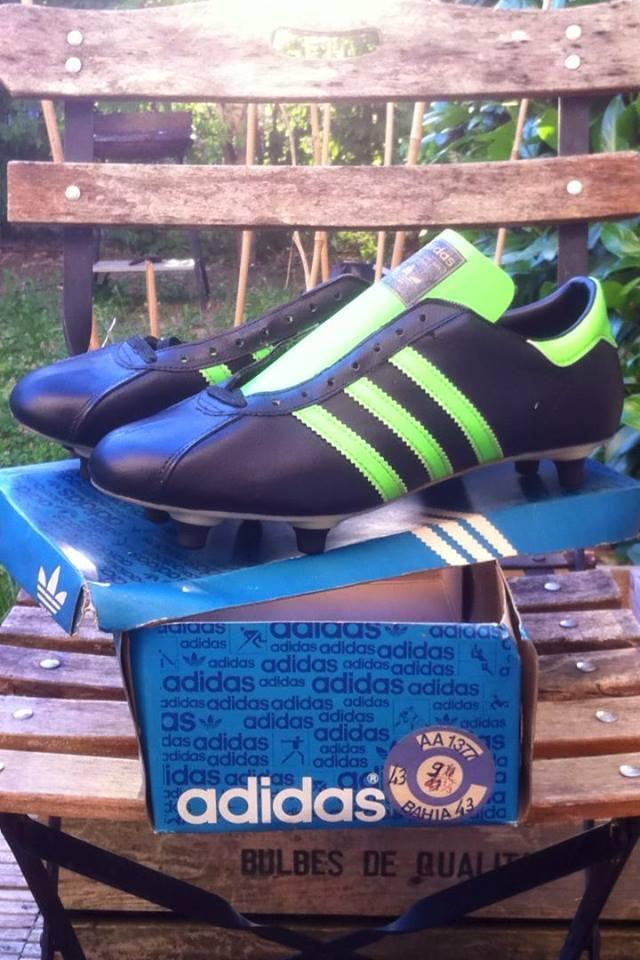 VINTAGE ADIDAS BAHIA FOOTBALL stivali NEW, MADE IN FRANCE UK943 13