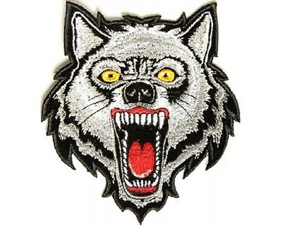 Gray wolf wolves canis lupus biker applique iron-on patch 1778