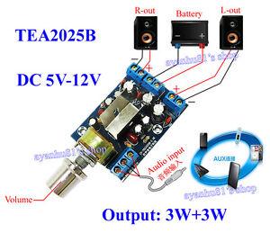 Details about AC5-9V DC5-12V TEA2025B 2 0 Stereo Dual Channel 3W+3W Mini  Audio Amplifier Board