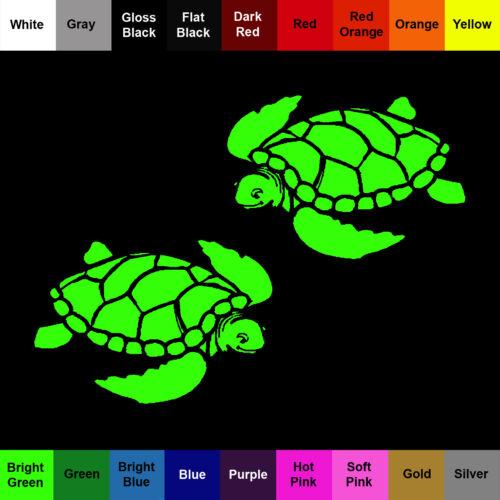 Sea Turtle Decal 2 Pack Vinyl Sea Turtle Stickers