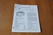 Ferguson 3136 Portable Transistor radio Vintage Service Manual