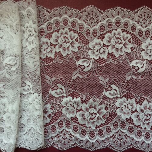 """Laces Galore ~Clipped Ivory Wide Delicate Lace 7.5/""""//19 cm Craft//Trim//Bridal"""