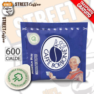 600 CIALDE CARTA ESE44 CAFFE' BORBONE MISCELA BLU gratis