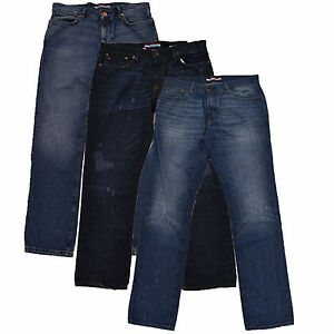 e622cee9d Tommy Hilfiger Jeans Mens Slim Leg Straight Fit Denim Pants Blue ...
