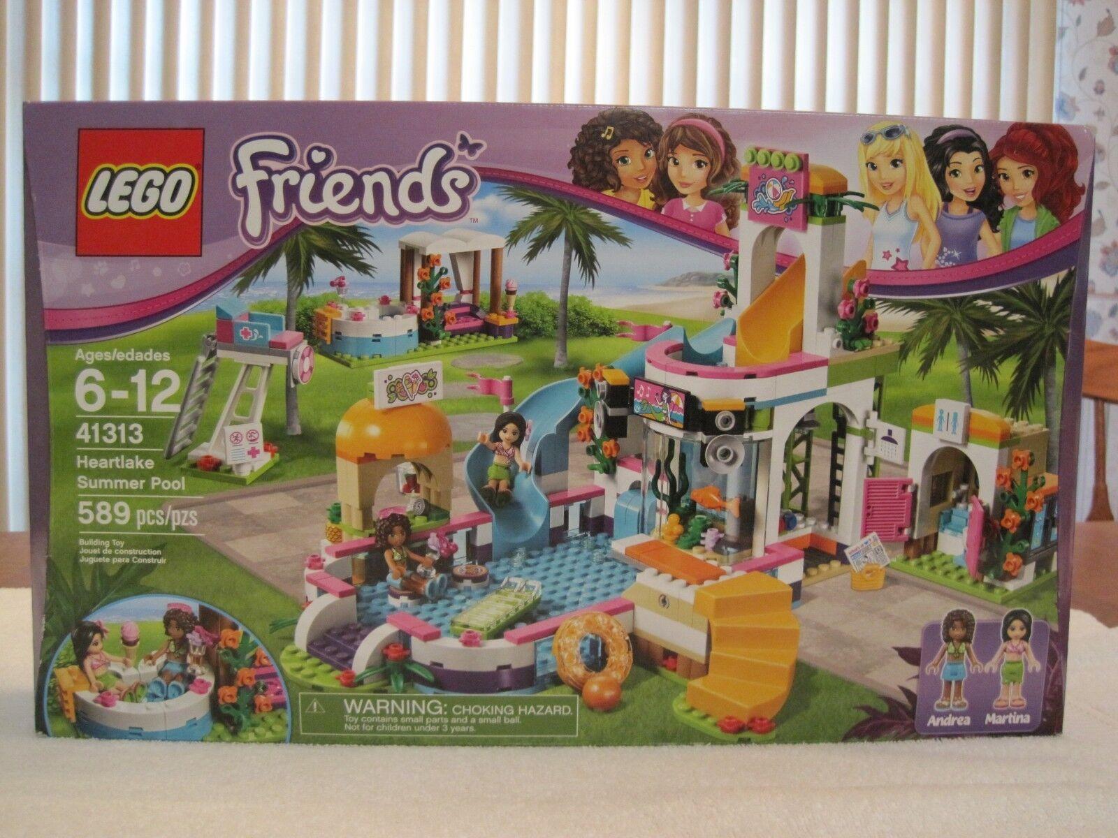 LEGO 41313 FRIENDS HEARTLAKE SUMMER POOL--nuovo--FACTORY  SEALED  in vendita