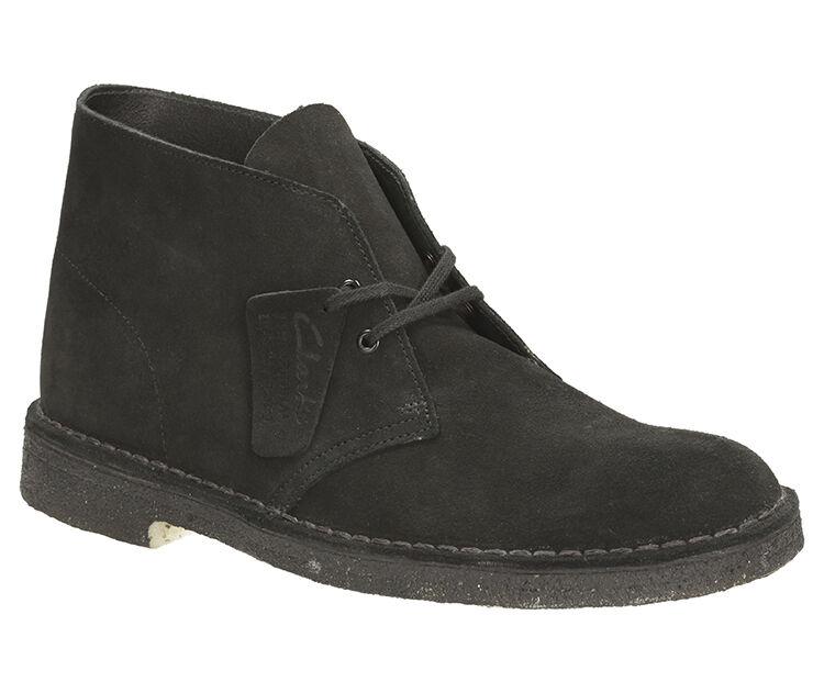 Clarks Originals Mens Desert Boot Black Lace Up Suede Boot