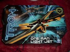 Tron Legacy un Hombre Luz Jet vehículo y Negro Guardia Figura De Acción