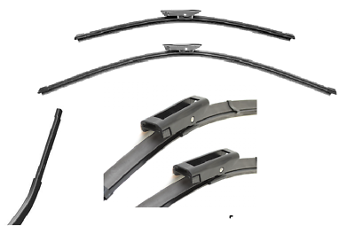 United Pacific 110306 15 Inch Bayonet Type Wiper Blade Polished Stainless Steel