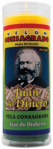 Incluye Ritual Velón Consagrado Juan del Dinero 14 x 5,5cm ☆ PAI JOAO ☆