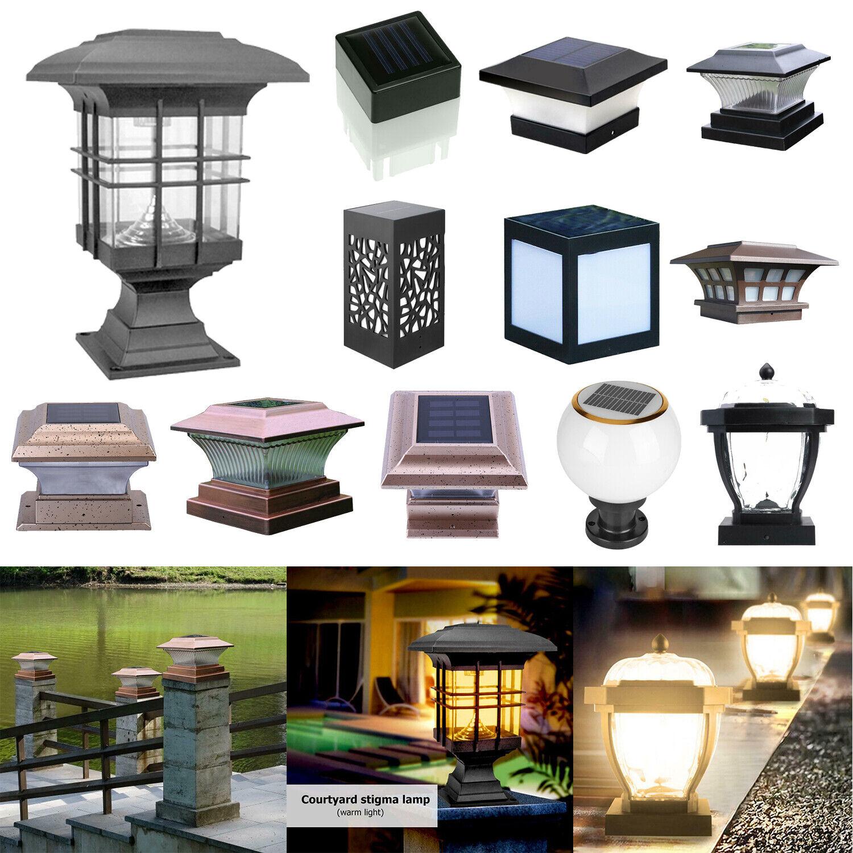 3 Sizes Solar Powered Outdoor Garden Lantern Lamp Post Pillar Light Lighting 210cm For Sale Ebay