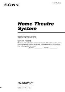 Sony bdv-t57 manuals.