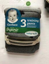 Gerber Organic Cotton Boy's 3 Pack Training Pants 3T