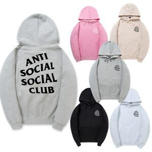 Anti Social Social Club Black ASSC streetshirt Mens Sweatshirt Mens Hoodies NEW