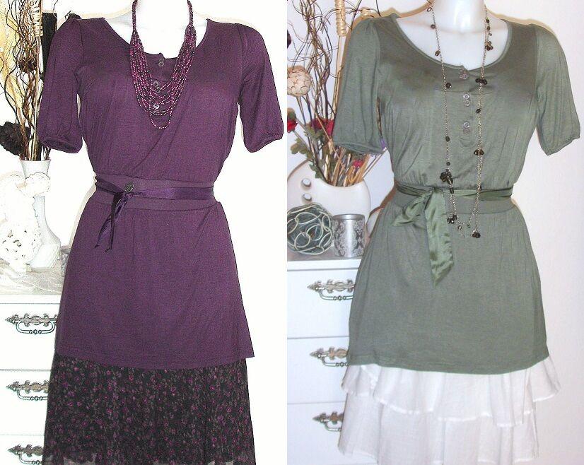 NOA NOA - Tunique wewanna viscose purple Persia Envy green - Robe NEUF