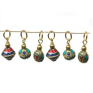 Mini-Charms-6-pcs-Turquoise-Coral-Lapis-Jewelry-Designing-Craft-Supply-CHB07