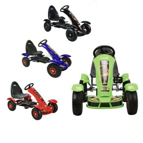 s l1600 - Foxhunter Infantil Go Kart – Pedal Coche para Niños Gocart con Freno de Mano G03