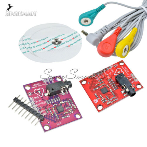AD8232 Single Lead Double Poles Pulse Heart Rate Monitor ECG Sensor Arduino Kit