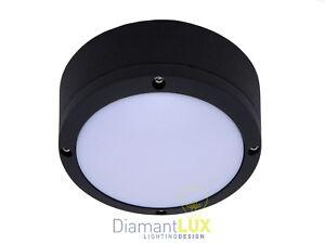 Plafoniere Per Esterni Alluminio : Biella 2800 plafoniera per esterno moderno tonda alluminio nero