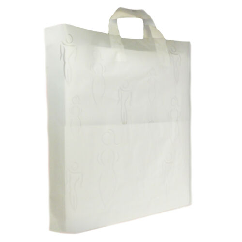 NEW PLASTIC CARRIER SILHOUETTES SEE THROUGH LUXURY PARTY BAGS PACK OF 50
