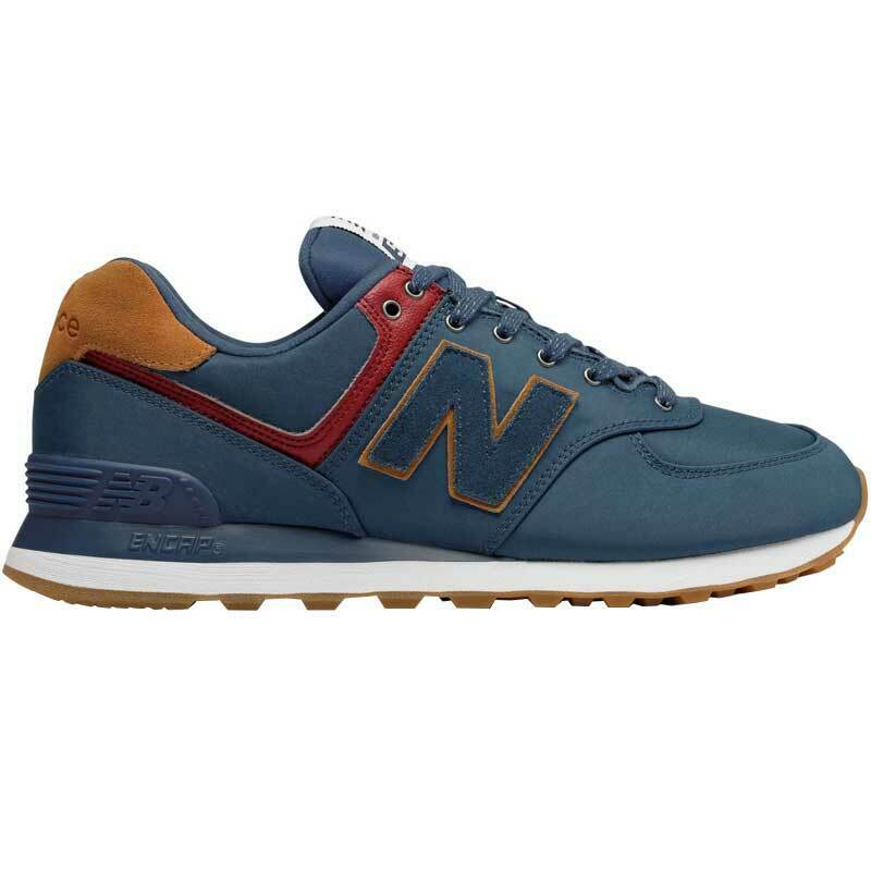 New Balance US 11 EU 45 Mens 574 bluee Leather Textile Running Athletic shoes