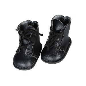 1-Paar-Handgemachte-Schwarze-Schnuerstiefel-Schuhe-fuer-18-zoll-American