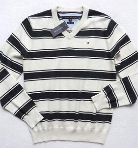 Details zu Tommy Hilfiger Herren Gestreift Pullover Sweatshirt GRÖSSE S