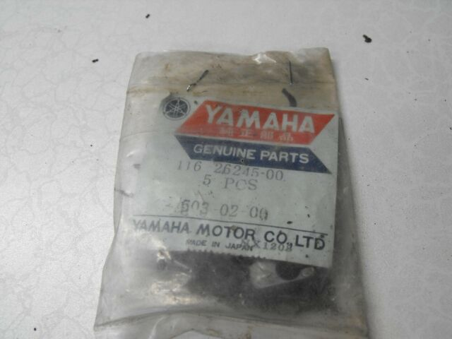 VINTAGE YAMAHA NEW OLD STOCK PAIR OF CABLE STOPPERS FOR 1966 U5 MODEL