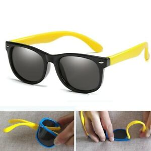 Rubber-Frame-Children-Polarized-Retro-Eyewear-Glasses-Baby-Goggles-Boys-Girls