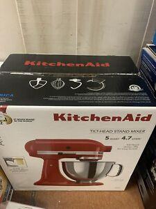 "KitchenAid Artisan KSM150PSER  5 Quart Tilt-Head Stand Mixer Empire Red  ""New"""