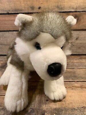 """Amabile Build A Orso Husky Siberiano 17 """" Peluche Giocattolo Cane Bianco Grigio Promuovere La Salute E Curare Le Malattie"""