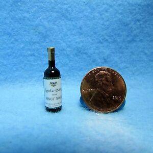 Dollhouse Miniature Bottle of Lanoka Valley Pinot Noir 1:12 Scale