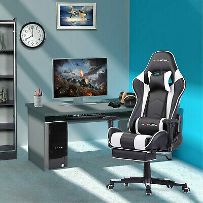 Ergonomic Computer Gaming Chair Office Chair Racing Style High Back Swivel Chair 4855254458611 Ebay