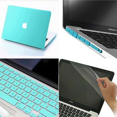 4in1 Matt Hard Case Cover Keyboard Cover +Plug For MacBook Air Pro 11 13 15 ''