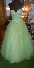 MORI LEE SIZE 8 formal, LIME green ballgown prom Princess dress