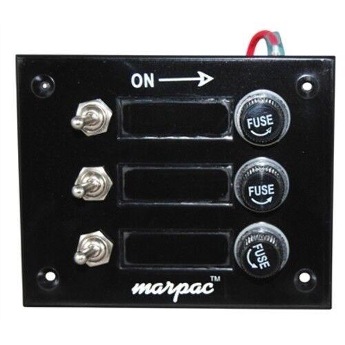 Boat marine 6 Gang Switch Panel Black Bakelite Panel Rated 15 Amps