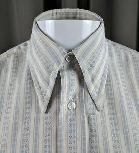 Vintage-Hipster-Western-Rockabilly-Shirt-Striped-Med-Kent-by-Arrow