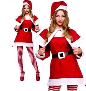 Mrs Santa Claus Costume Adult Ladies Father Christmas Festive Fancy Dress New