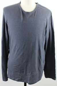 MINT-John-Varvatos-Star-USA-Long-Sleeve-Crew-Neck-Tee-Shirt-MENS-XL-Blue