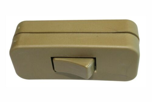 Gold In-Line 2Amp Switch for 2 or 3 Core Flex For Table//Standards Lamp//Light