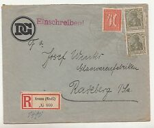 R - Brief Gronau Westfalen Einschreiben 1923 Disconto - Gesellschaft !