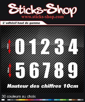 Stickers Auto Moto numéro chiffre numbers 10cm decals pegatinas aufkleber 323-25