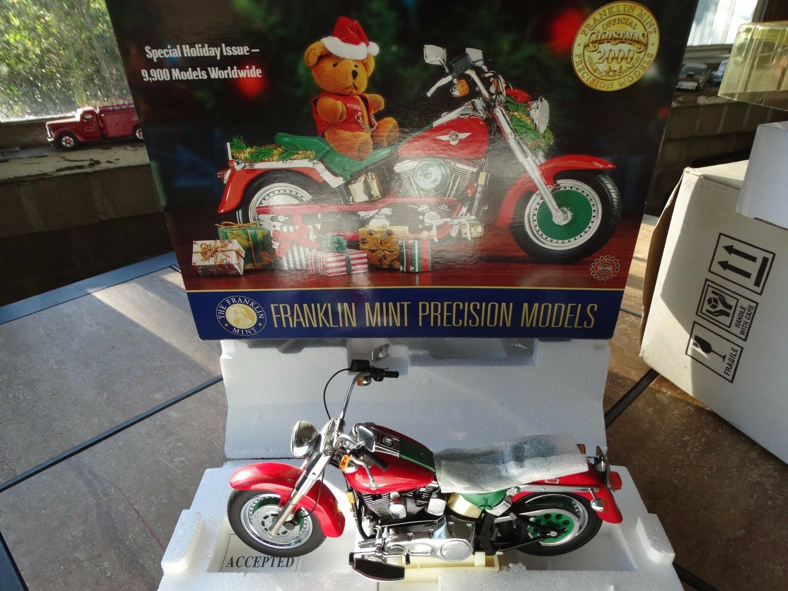 minorista de fitness Franklin Mint 2000 2000 2000 Harley Davidson Fat Boy Navidad 1 10 DIECAST MOTO  conveniente