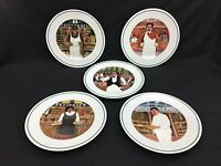Williams Sonoma Guy Buffet L'Etalage Shopkeepers Dessert Plates Set of 5