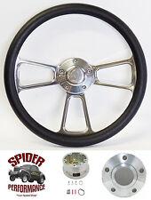 """1968-1969 Roadrunner GTX Cuda Satellite steering wheel 13 3/4"""" POLISHED BILLET"""