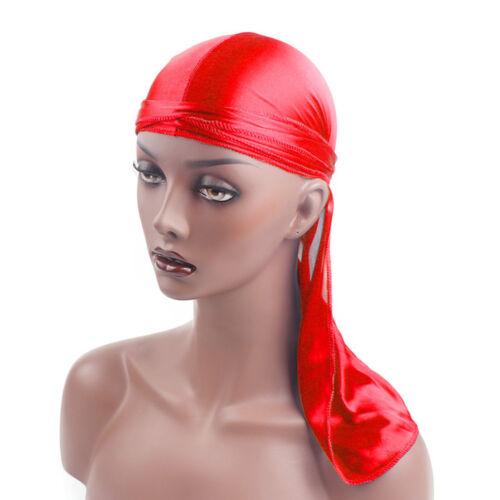Unisex Headwear Headband Rapper Bboy Pirate Cap Hat Smooth Nylon Cap UK