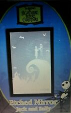 Nightmare Before Christmas Etched Mirror Jack and Sally on Hill by Neca NEW
