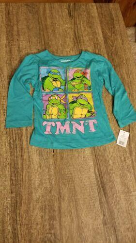 NWT Girls Long Sleeve Ninja Turtles Shirt Sz 2T