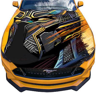Vinyl Decal Black Panther Car Hood Wrap Full Color Graphics Comics Hero Sticker