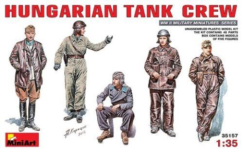 Miniart 35157-1//35 WWII Ungarische Panzerbesatzung Hungarian Tank Crew Neu